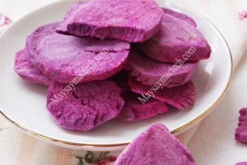 Sấy thăng hoa khoai lang tím, sử dụng lâu dài hoặc xay bột mịn