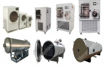 Các loại máy sấy thăng hoa phổ biến, đáp ứng các quy mô sản xuất