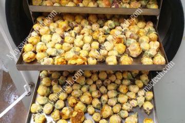 Cách sấy khô hoa trà vàng giữ nguyên bông, nguyên màu sắc