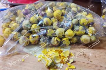 Nụ hoa trà vàng khô có đặc điểm gì nổi bật sau sấy khô