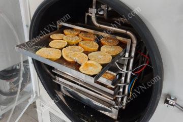 Máy sấy cam khô giòn, sử dụng sấy hoa quả giòn chất lượng cao